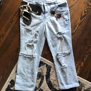 GV ripped jeans light blue